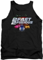 2 Fast 2 Furious tank top Logo mens black