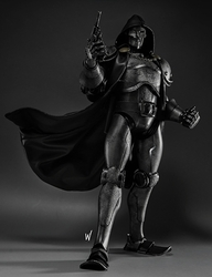 3A X Doctor Doom 1/6 scale figure Stealth Edition pre-order