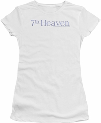 7th Heaven juniors t-shirt Logo white