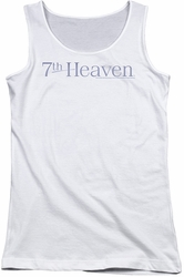 7th Heaven juniors tank top 7th Heaven Logo white