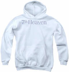7th Heaven youth teen hoodie Logo white