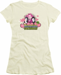 90210 juniors t-shirt Decisions cream