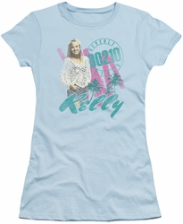 90210 juniors t-shirt Kelly Vintage light blue