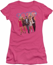 90210 juniors t-shirt Walk Down The Street hot pink