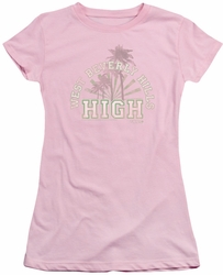 90210 juniors t-shirt West Beverly Hills High pink