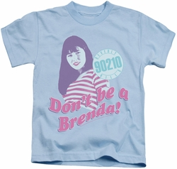 90210 kids t-shirt Don't Be A Brenda light blue