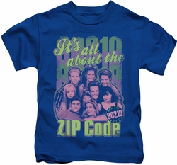 90210 kids t-shirt Zip Code royal
