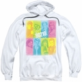 90210 pull-over hoodie Color Block Of Friends adult white