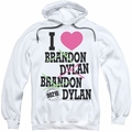 90210 pull-over hoodie I Heart 90210 adult white
