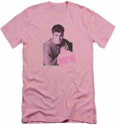 90210 slim-fit t-shirt David mens pink