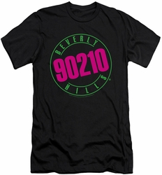 90210 slim-fit t-shirt Neon mens black