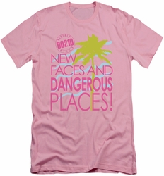 90210 slim-fit t-shirt Tagline mens pink