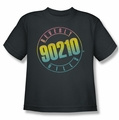 90210 youth teen t-shirt Color Blend Logo charcoal