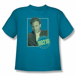 90210 youth teen t-shirt Steve turquoise