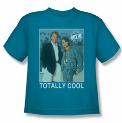 90210 youth teen t-shirt Totally Cool turquoise