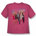 90210 youth teen t-shirt Walk Down The Street hot pink
