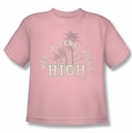 90210 youth teen t-shirt West Beverly Hills High pink