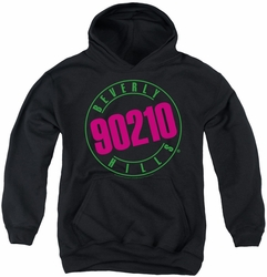 90210 youth teen hoodie Neon black