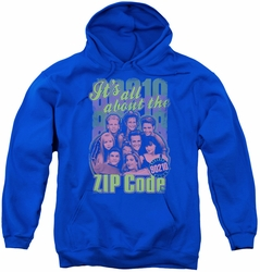 90210 youth teen hoodie Zip Code royal blue