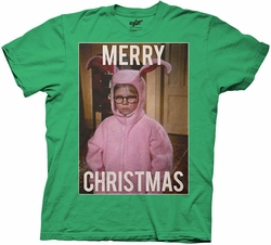 A Christmas Story Merry Christmas Bunny Suit adult mens t-shirt