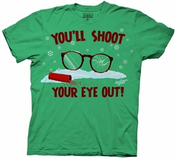 A Christmas Story You'll Shoot Your Eye Out! adult mens t-shirt