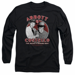 Abbott & Costello adult long-sleeved shirt Bad Boy black