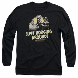 Abbott & Costello adult long-sleeved shirt Horsing Around black