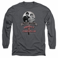 Abbott & Costello adult long-sleeved shirt Super Sleuths charcoal