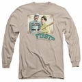 Abbott & Costello adult long-sleeved shirt Who's On First sand
