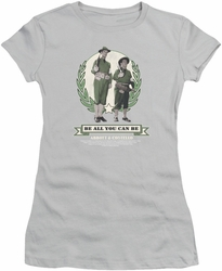 Abbott & Costello juniors sheer t-shirt Be All You Can Be silver