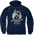 Abbott & Costello pull-over hoodie Off Your Rocker adult navy