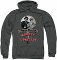Abbott & Costello pull-over hoodie Super Sleuths adult charcoal