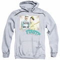 Abbott & Costello pull-over hoodie Who's On First adult athletic heather