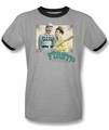 Abbott & Costello ringer t-shirt Who's On First adult heather black