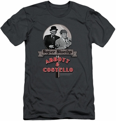 Abbott & Costello slim-fit t-shirt Super Sleuths mens charcoal