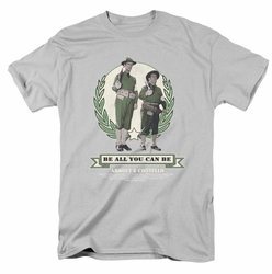 Abbott & Costello t-shirt Be All You Can Be mens silver