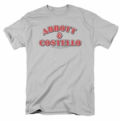 Abbott & Costello t-shirt Logo mens silver