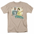 Abbott & Costello t-shirt Who'S On First mens sand