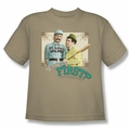 Abbott & Costello youth teen t-shirt Who's On First sand
