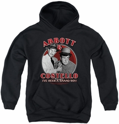 Abbott & Costello youth teen hoodie Bad Boy black