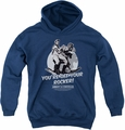 Abbott & Costello youth teen hoodie Off Your Rocker navy