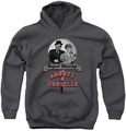 Abbott & Costello youth teen hoodie Super Sleuths charcoal
