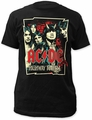 AC/DC highway illustration fitted jersey tee black t-shirt pre-order