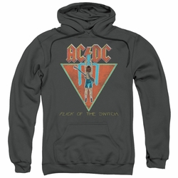 AC/DC pull-over hoodie Flick Of The Switch adult Charcoal