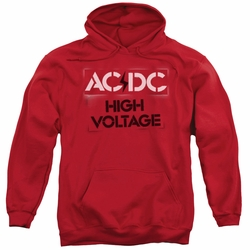 AC/DC pull-over hoodie High Voltage Stencil adult Red