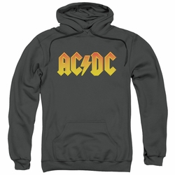 AC/DC pull-over hoodie Logo adult Charcoal