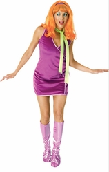 Adult Daphne Costume : Scooby-Doo
