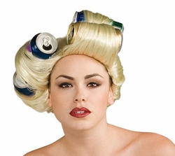 adult Lady Gaga soda can wig