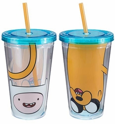 Adventure Time Finn and Jake 18 oz. Acrylic Travel Cup