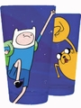 Adventure Time Pint Glass Jake & Finn Fists